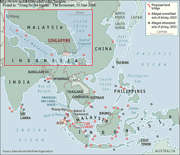 Maps Images Legal And Political Maps The South China Sea - South asia political map 2004