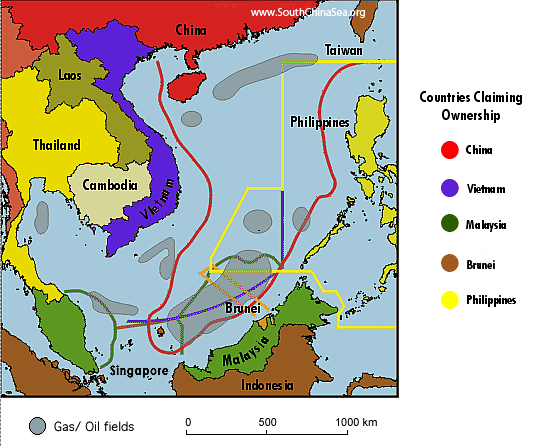 South China Sea Islands University Of Texas South China Sea Tables And Maps Us Eia