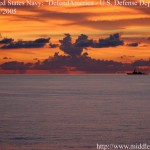 """Beautiful Sunset at Sea, May 25, 2005"" photograph of the sunset over the South China Sea, taken by David Ham"