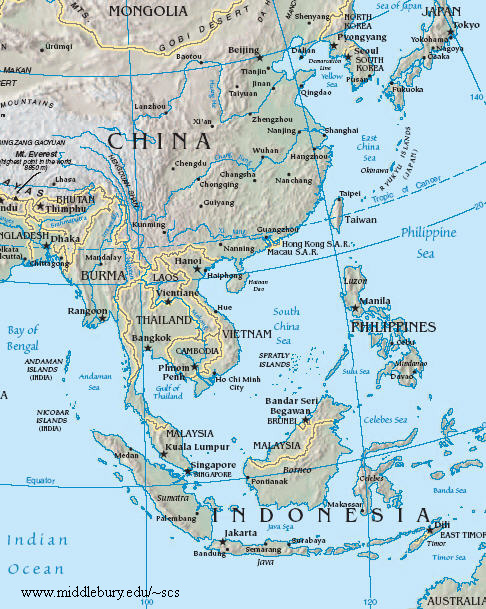 China Sea Map Legal and Political Maps | The South China Sea