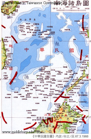 Territorial claims maps the south china sea 9 dash line map taiwan gumiabroncs Gallery