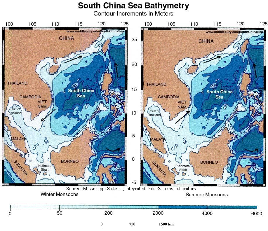 Environmental And Oceanographic Maps