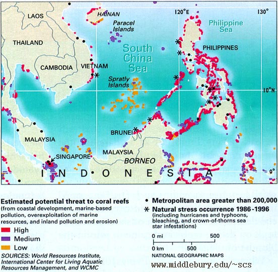 Maps Images Environment Geography The South China Sea