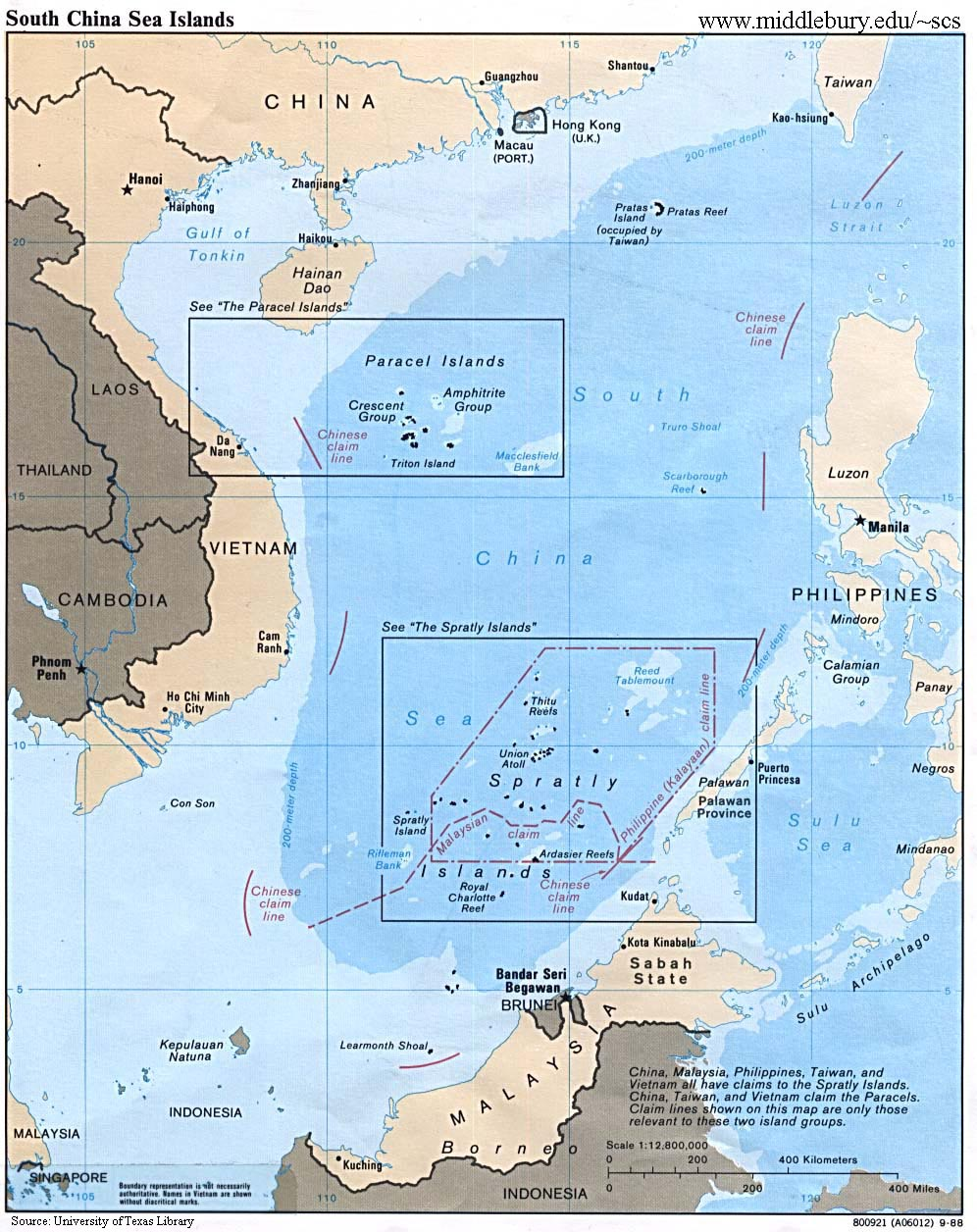 south china sea islands university of texas