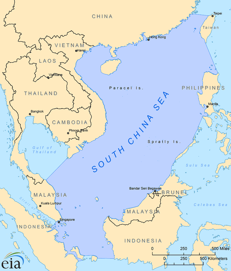 Map Of South China Sea Environmental and Oceanographic Maps | The South China Sea