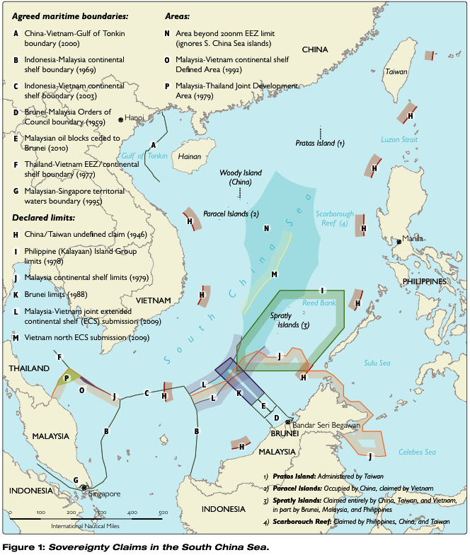 Map Of South China Sea Territorial Claims – Maps | The South China Sea